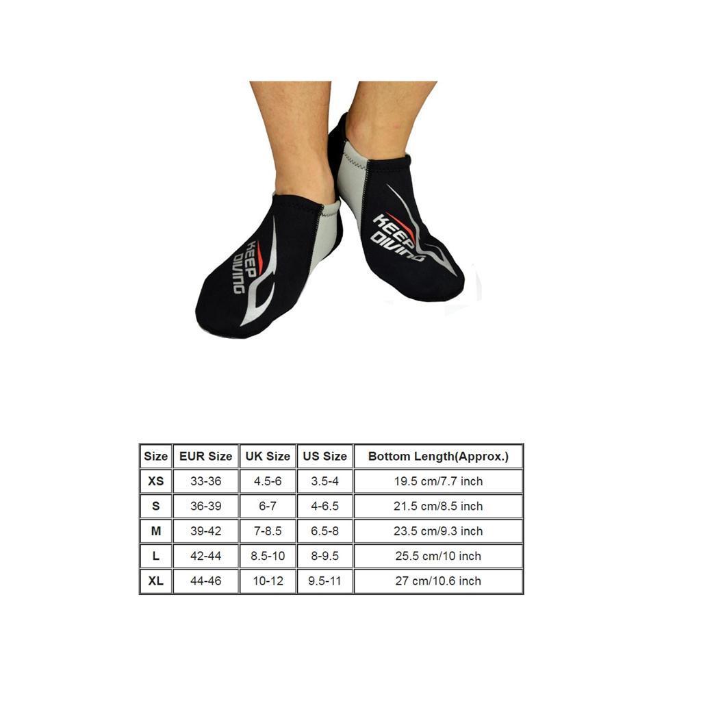 3MM Neoprene Diving Socks Snorkeling Surfing Kayaking Swimming Beach Shoes XS-XL