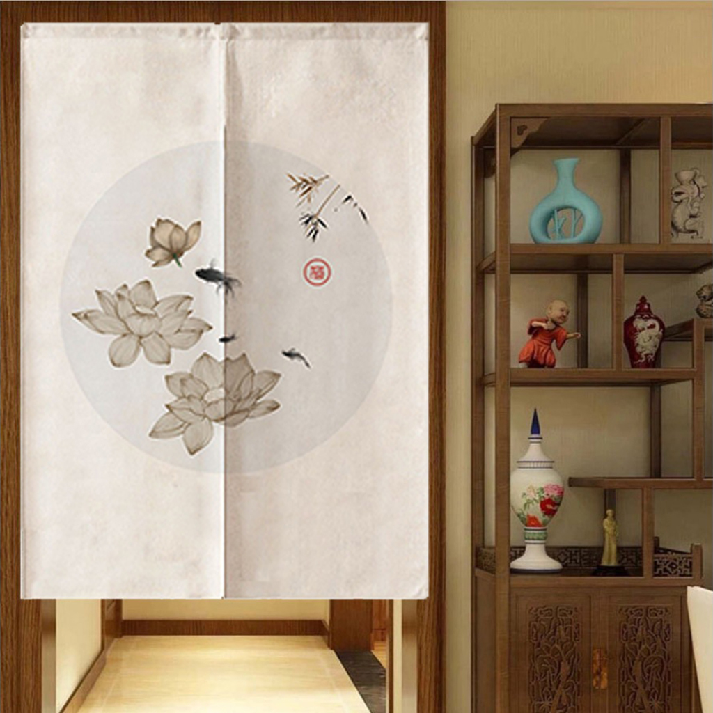 Chinese Style Hanging Shade Partitions Panel Screen Hanging Room Dividers