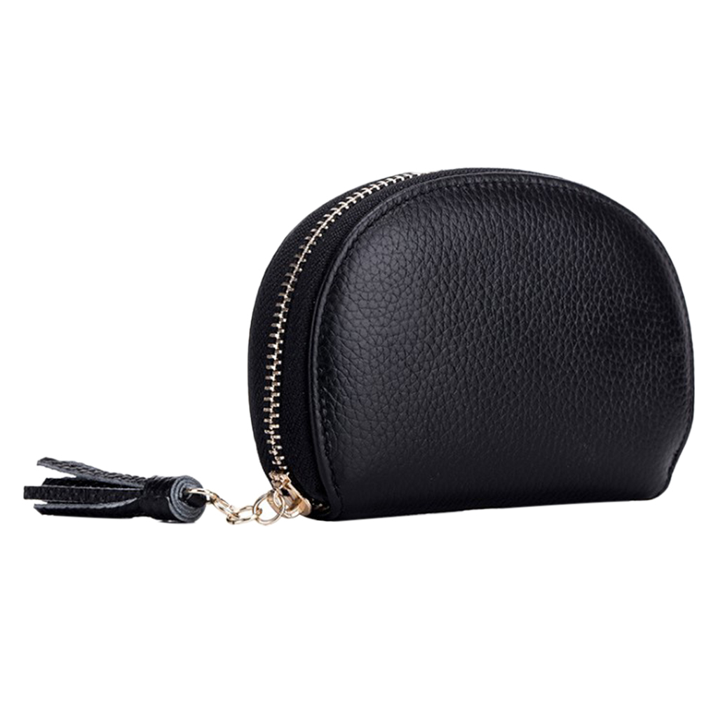 Genuine Leather Women/'s Small Id Credit Card Wallet Coin Holder Pocket Case
