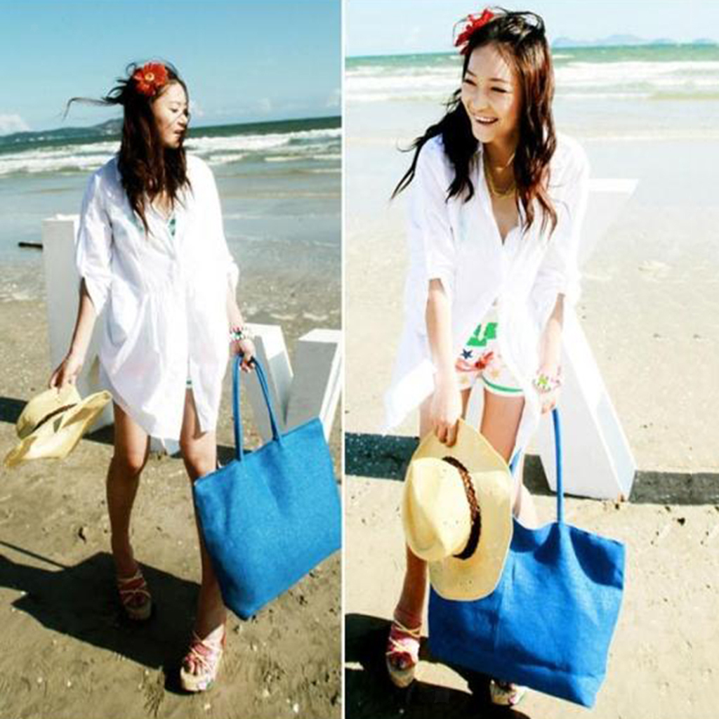 Blesiya New Weave Straw Summer Beach Woven Shoulder Tote Shopping Bags Handbag
