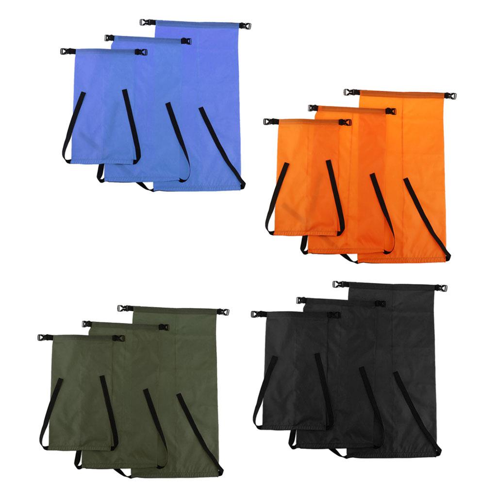 S /& M /& L 3 Pieces Outdoor Waterproof Dry Bags Storage Stuff Sacks Packs