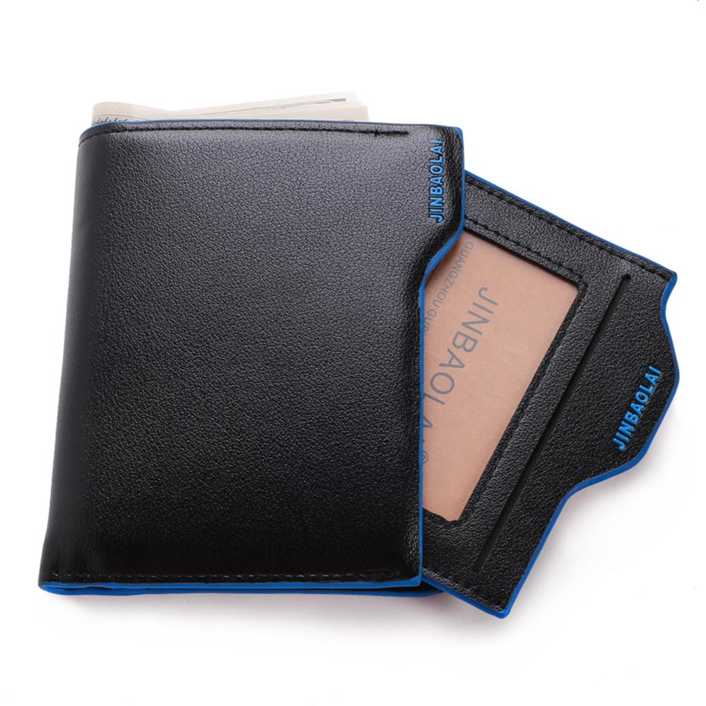 Hommes Petit deux volets Fermeture Éclair Autour De Portefeuille Vintage Multi Pocket Money clip wallet