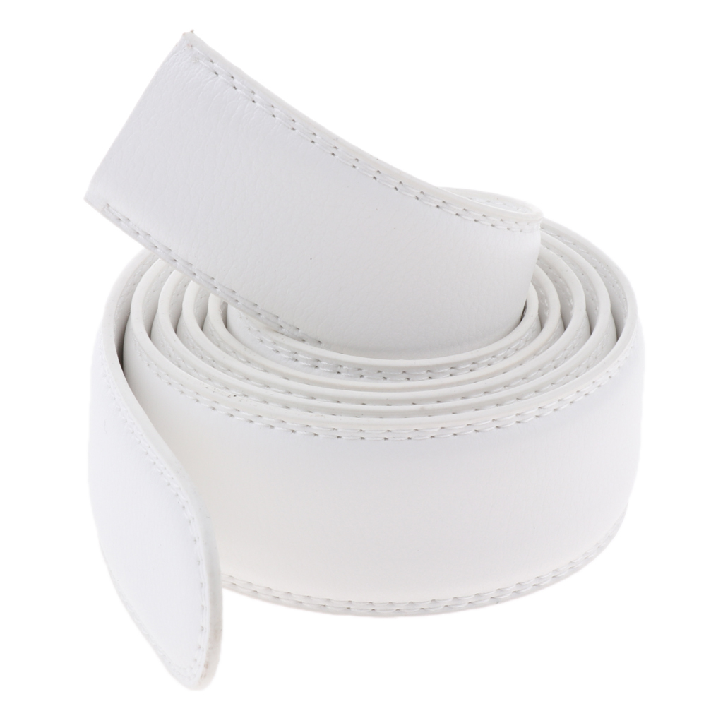 Men Leather Ratchet Belt Trim to Fit No Holes Belt Strap without Buckle