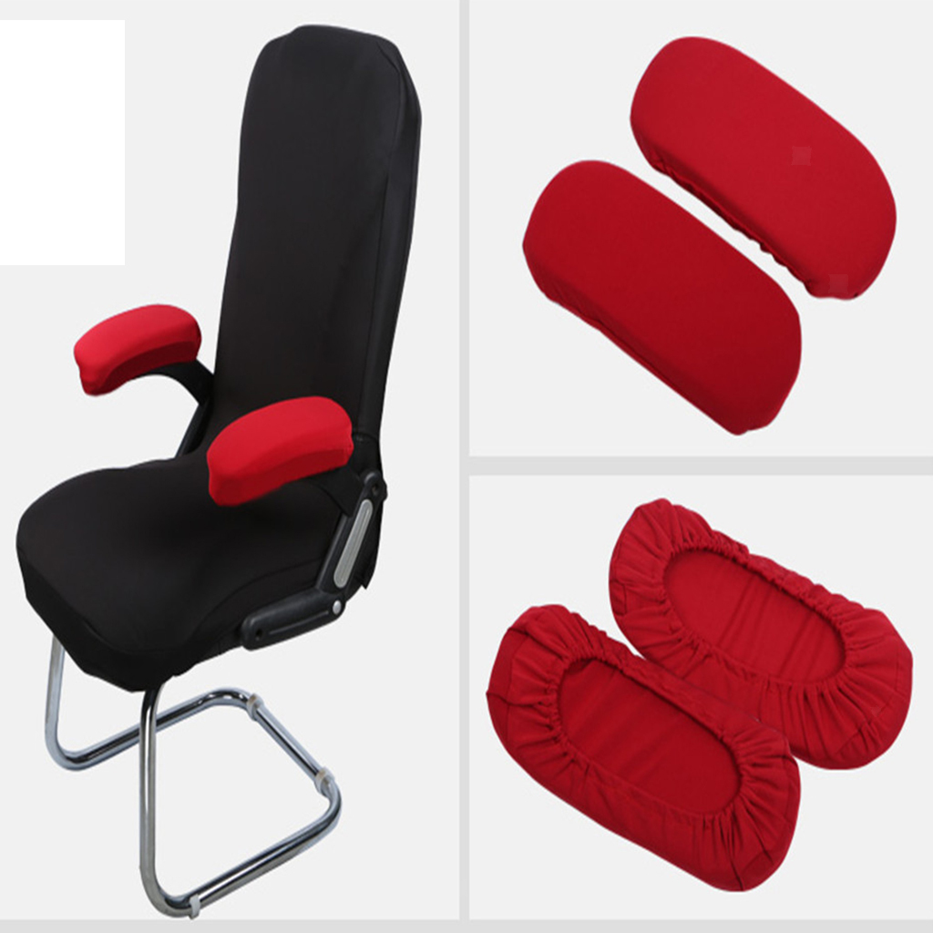 1Pair Office Computer Chair Armrest Cover Polyester Elastic Chair Arm Covers