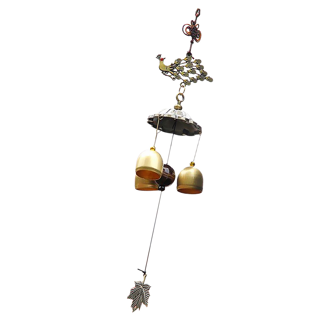 Wind Chimes Garden Outdoor Ornament Fish Butterfly Elephant Leaf Lucky Bag