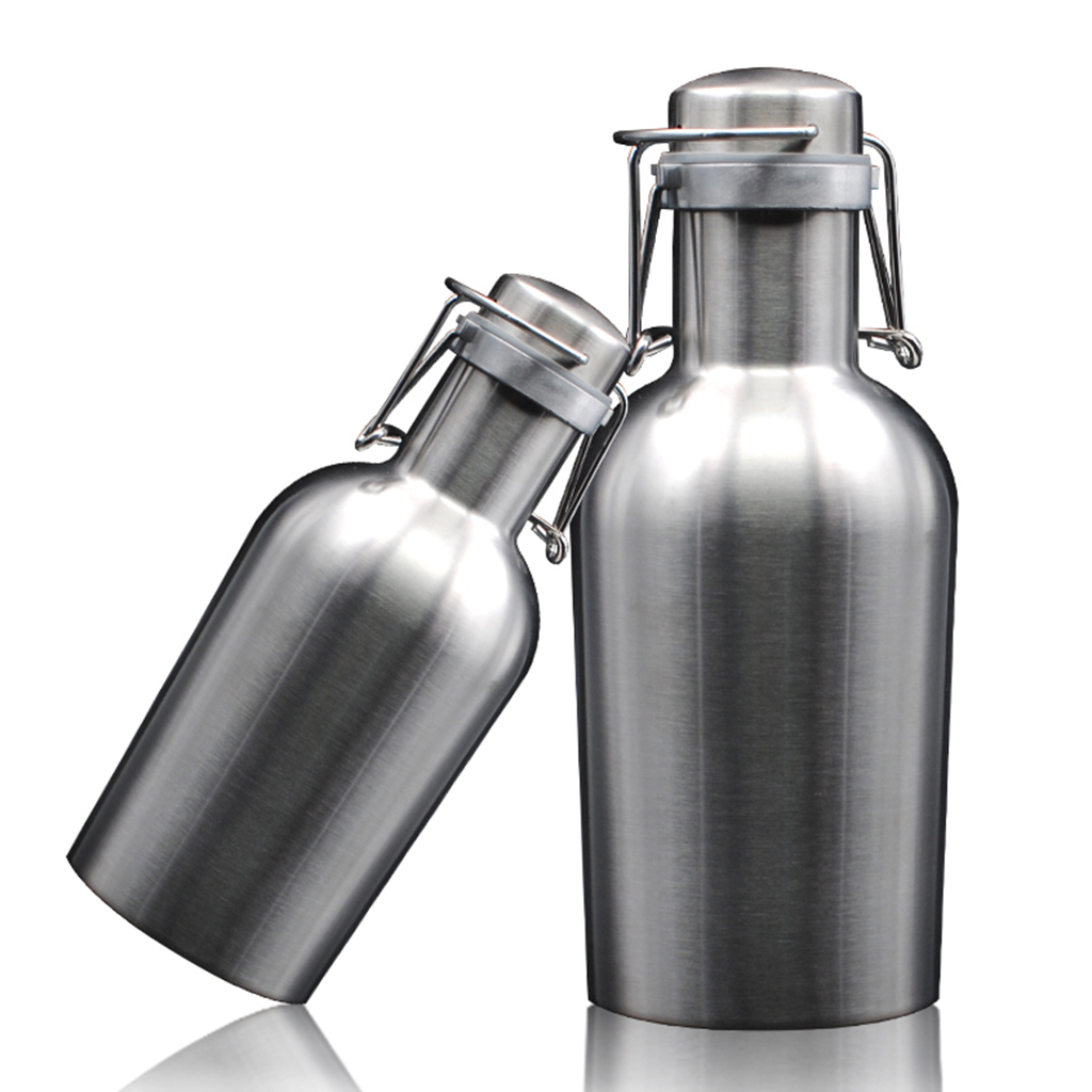 1900 Camping Edelstahl Bierkrug Bierkanne 1500ml outdoor Wasserflasche