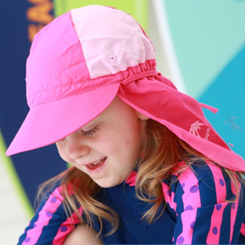 Legionnaire Sun Hat Baby Boy Girl Kids Summer Cap Beach Hats Toddler Back Flap