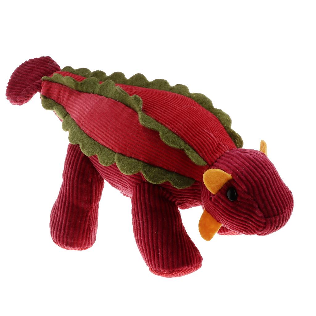 Cute Stuffed Dinosaur Doll Soft Corduroy Animal Model Baby Developmental Kid Toy