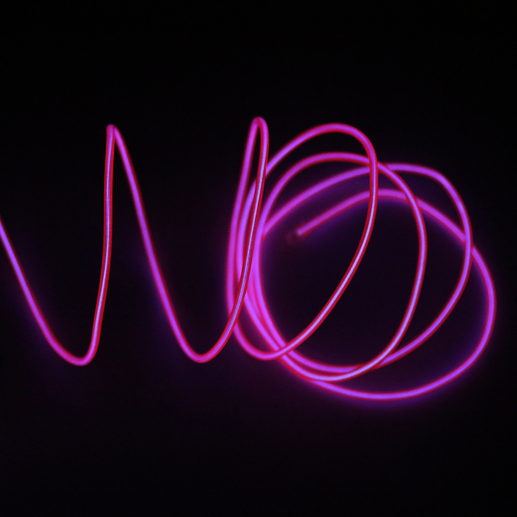 1,3Meters Flexible EL Wire Neon Light with Battery Pack Neon Glowing Decor