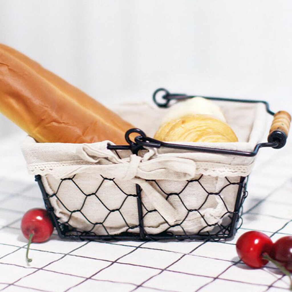 Geometric Fruit Basket Bowl Kitchen Metal Bread Sundries Storage Display