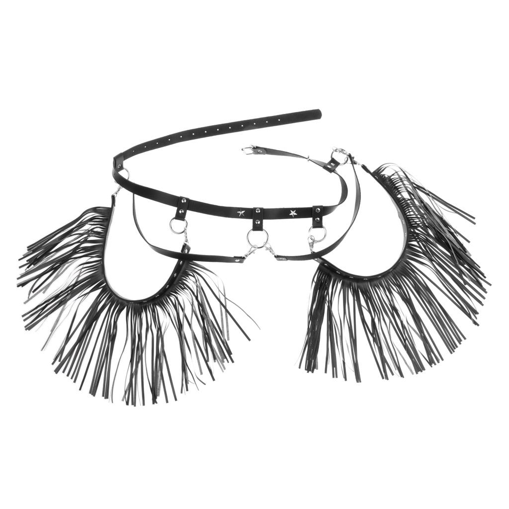 Details about  /Womens Leather Garter Body Harness Waist Belts Halloween Punk Club Costumes