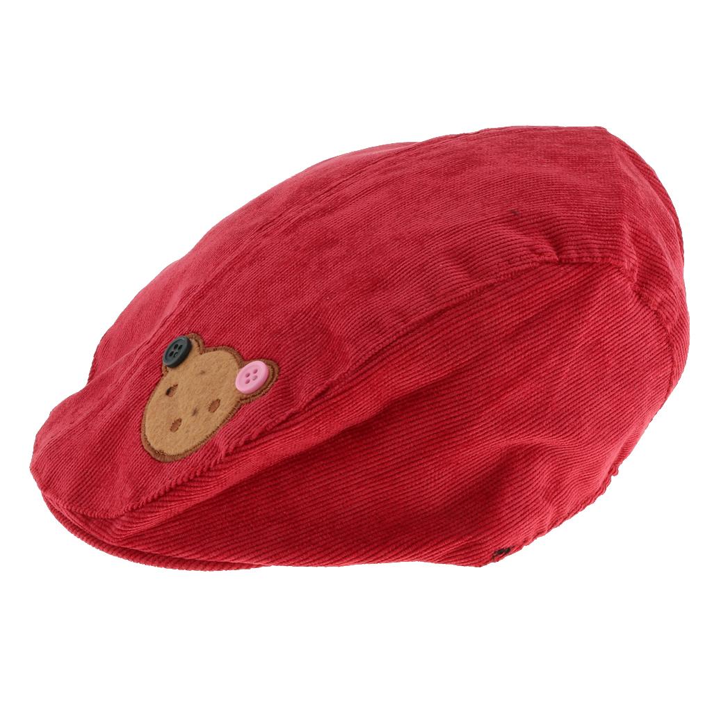 Kids Kappe Hut Cap Kinder Baskenmütze Mütze Berets Schirmmütze Bär