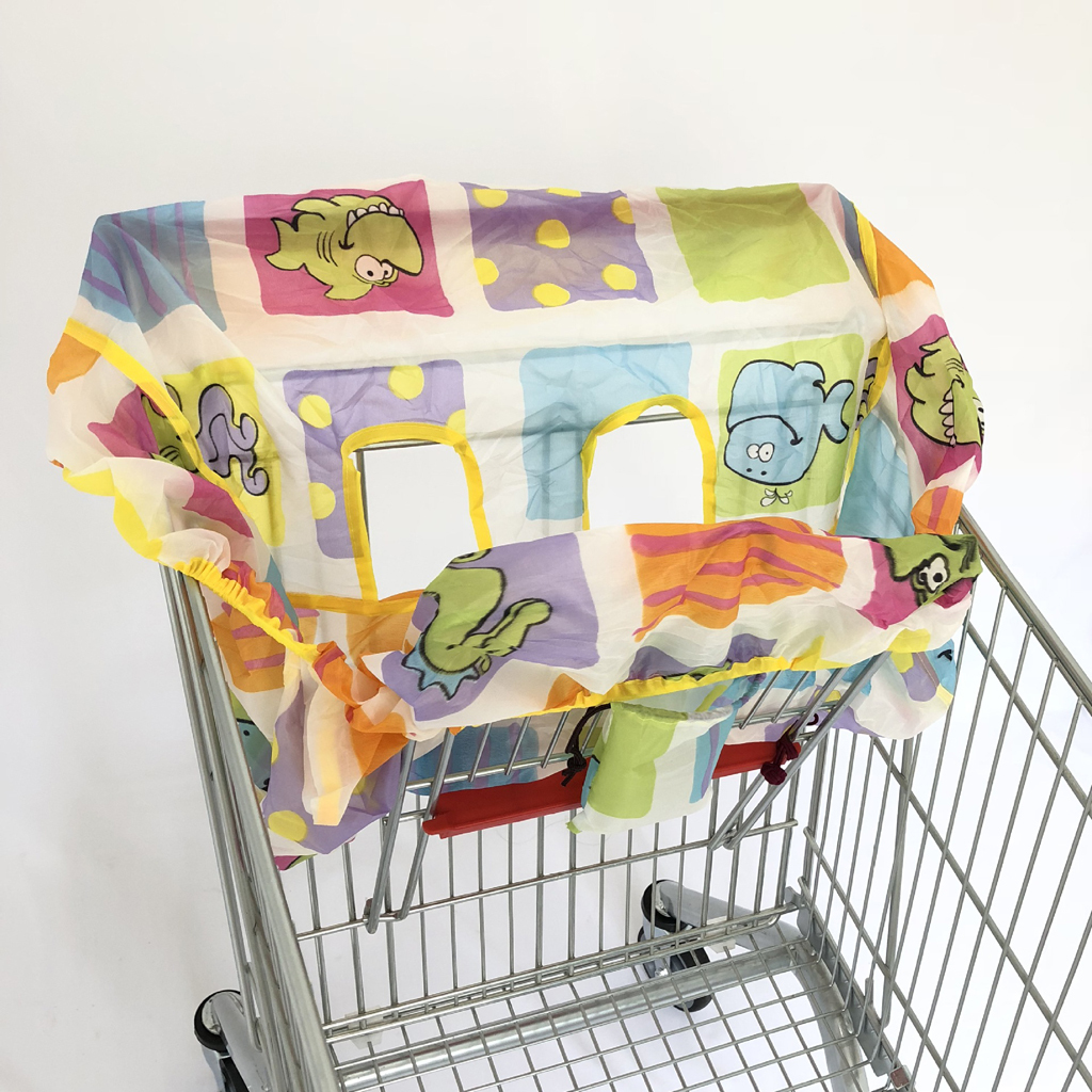 Shopping Cart CoverHigh Chair Cover for Baby 2-in-1 Cushy Cart Cover