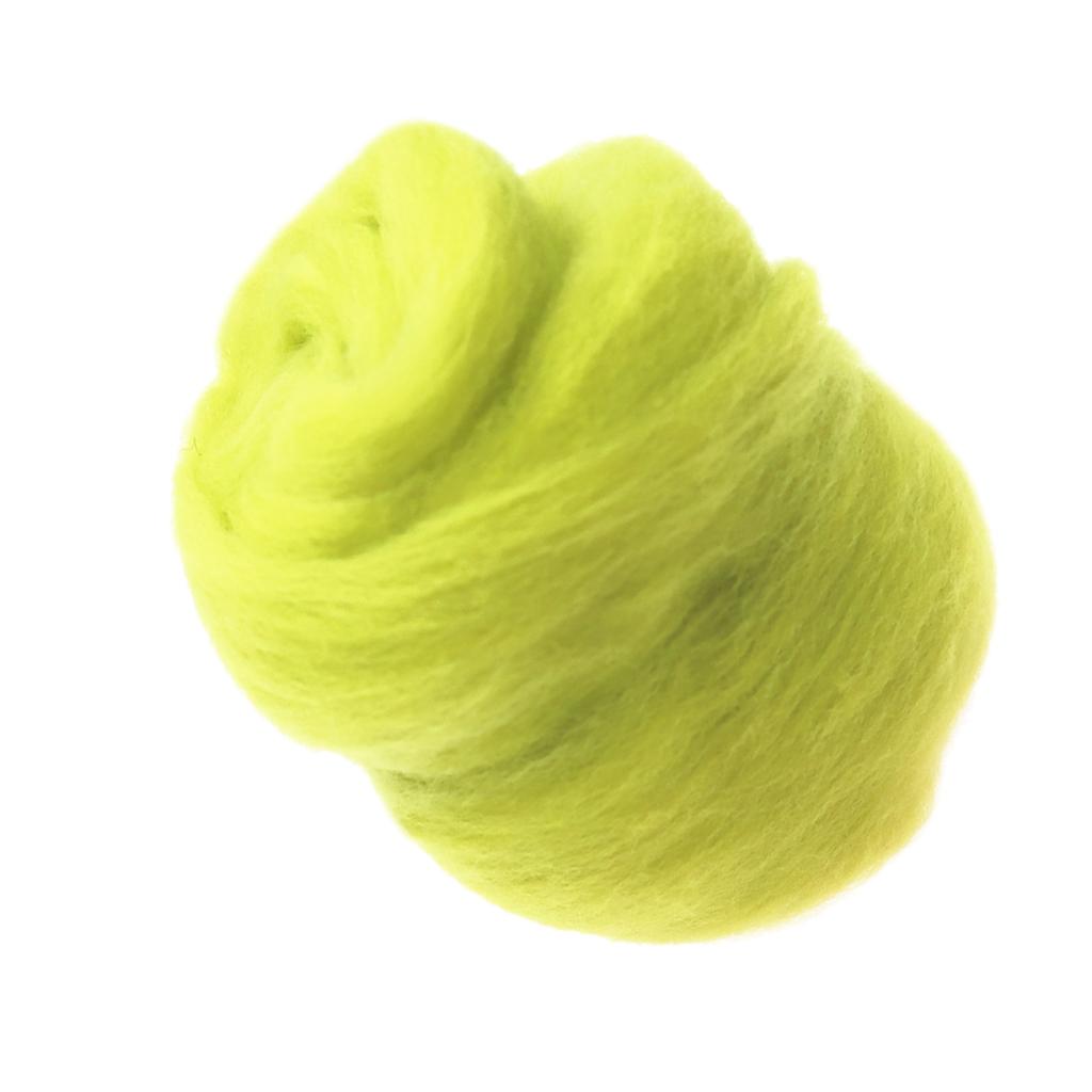 10g Wool Fibre Roving For Needle Felting Materials 13 Colors