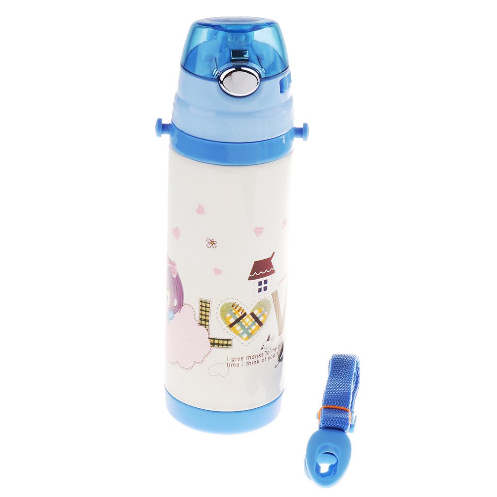 Isolierte Strohhalmbecher Trinkflasche Kinder 400 ML BPA Frei Thermo