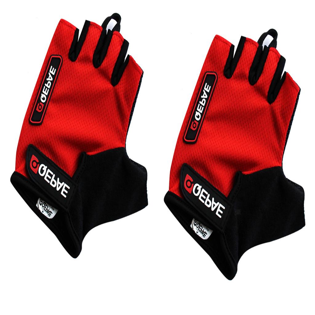 Men Women Gel Bike Half Finger Cycling Gloves Fingerless Sport Short Gloves