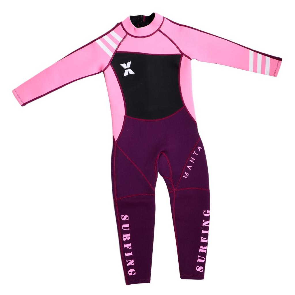 2.5mm Neoprene Nylon Full Body Swimsuit Cold Prevention Wetsuit for Girl Kid