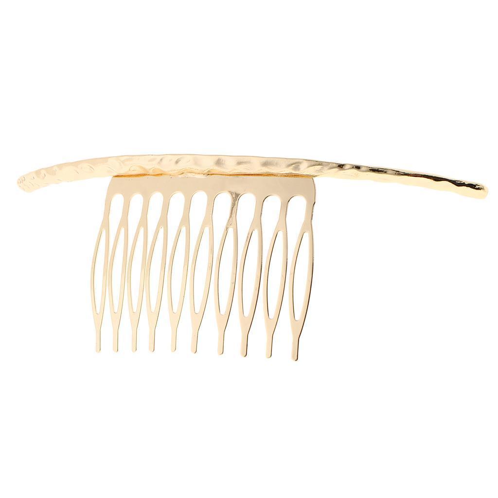Ladies DIY Blank Metal Hair Clips Wedding Combs 10 Teeth Bridal Accessory