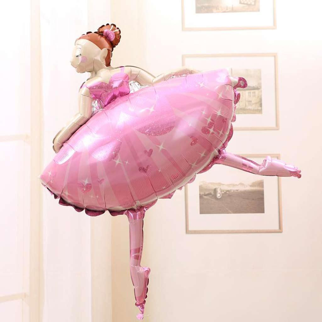 Large Ballet Dancing Girl Ballerina Foil Helium Balloon Princess Party Supplier