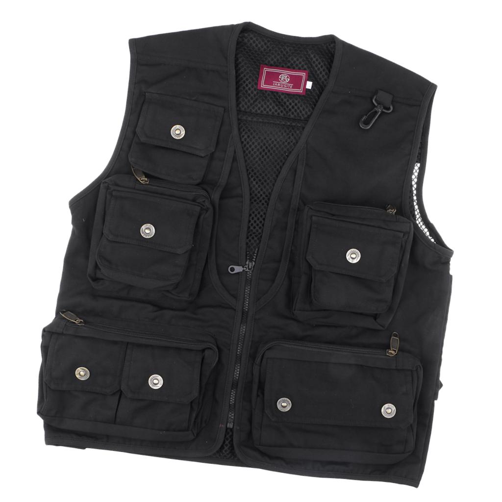 Fishing Vest Hunting Outdoor Vest Work Utility Vest Multi Pocket Waistcoat