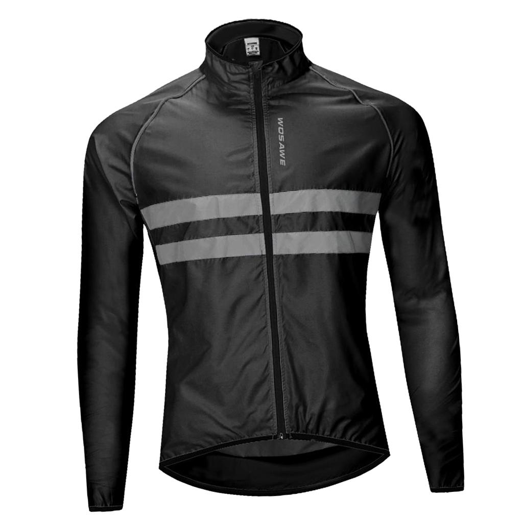 Outdoor Sports Bike Cycling Jersey Long Sleeves Waterproof Reflective Jacket