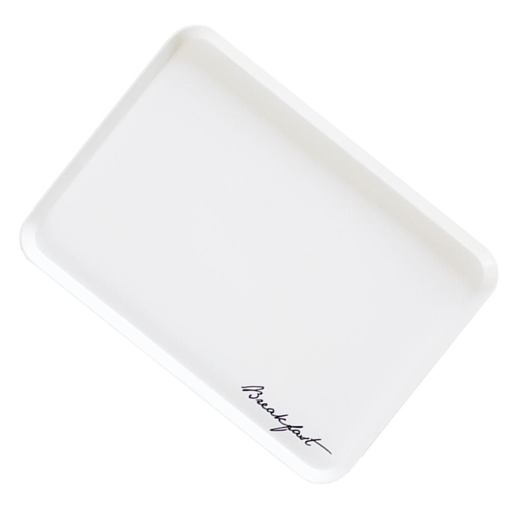 Versatile melamine serving tray with raised edges Portable Breakfast Platter