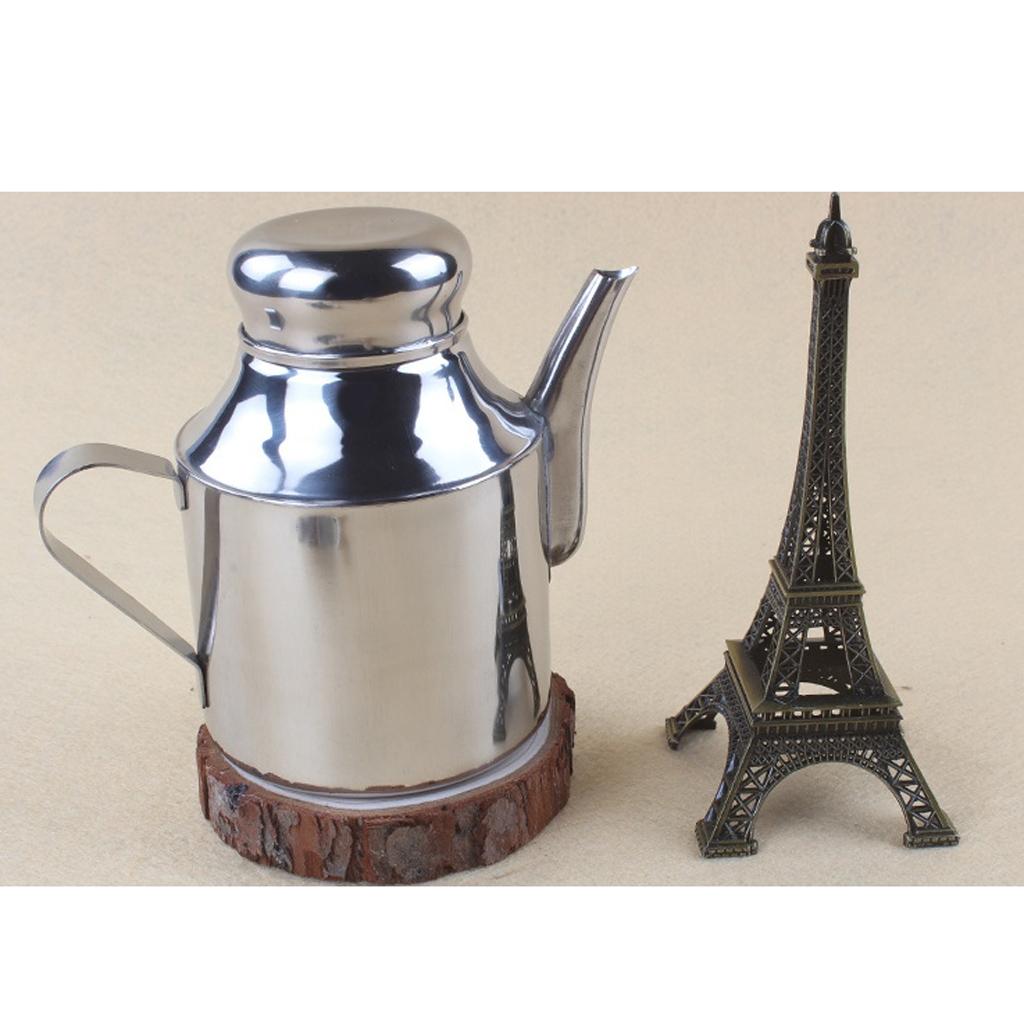 Stainless Steel Olive Oil Pourer Dispenser Cooking Oil Jar Can Bottle Pots