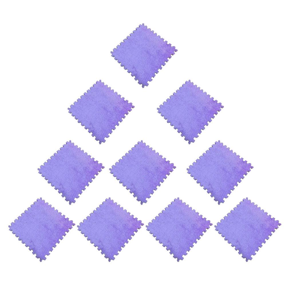 10pcs 30 x 30cm EVA Schaumstoff Plüschmatte Puzzlematte Kindermatte