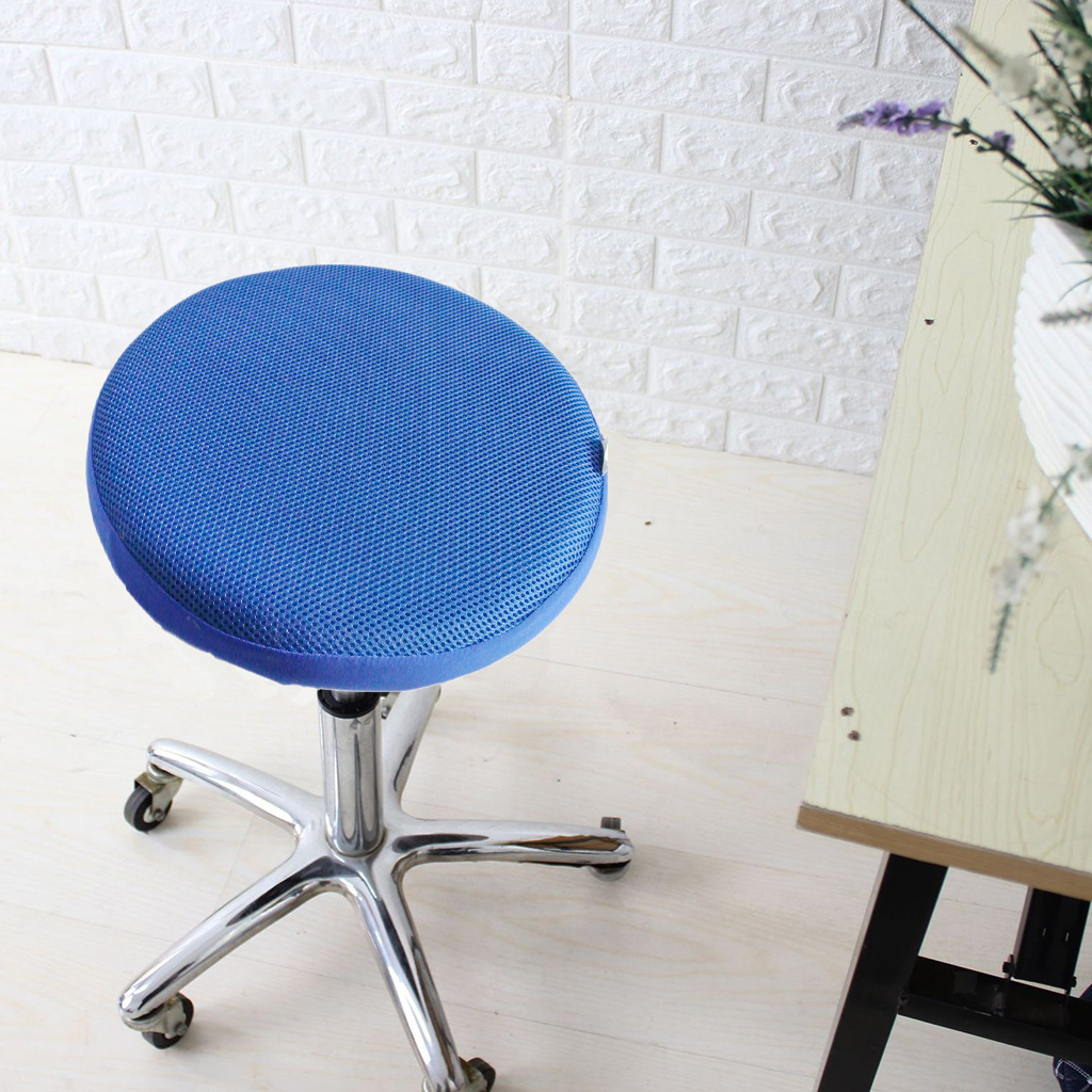 Stretch Round Bar Stool Cover Chair Cushion Seat Pad Sleeve Cover Black