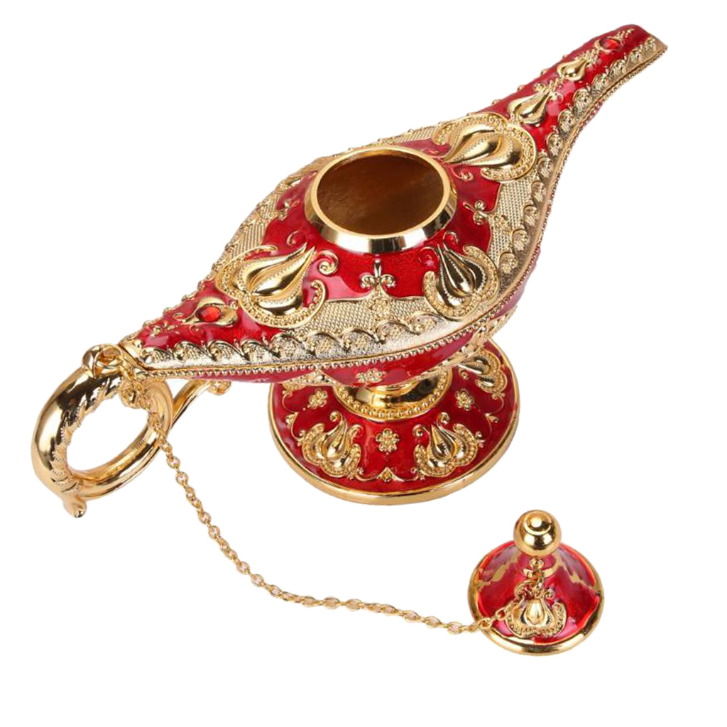 Blesiya Collectable Rare Legend Aladdin Magic Genie Light Lamp Exquisite Pot