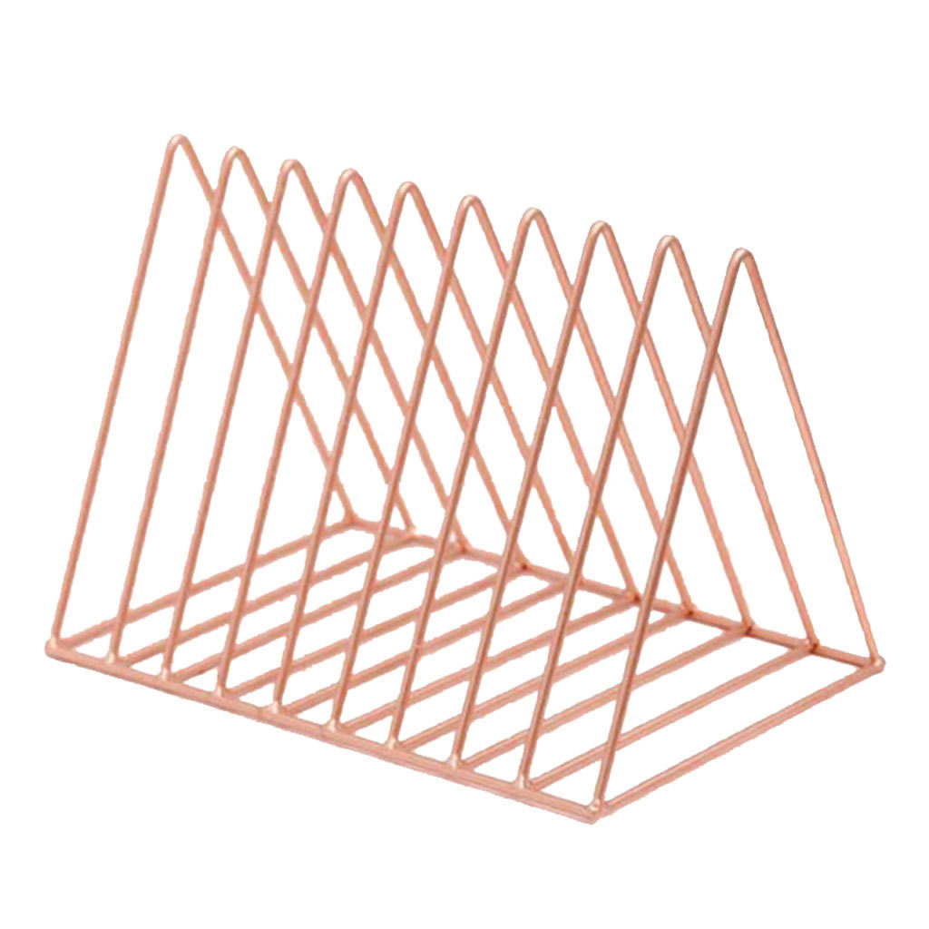 Nordic Style Files Folder Stand Desktop File Organizer Book Shelf  Rack