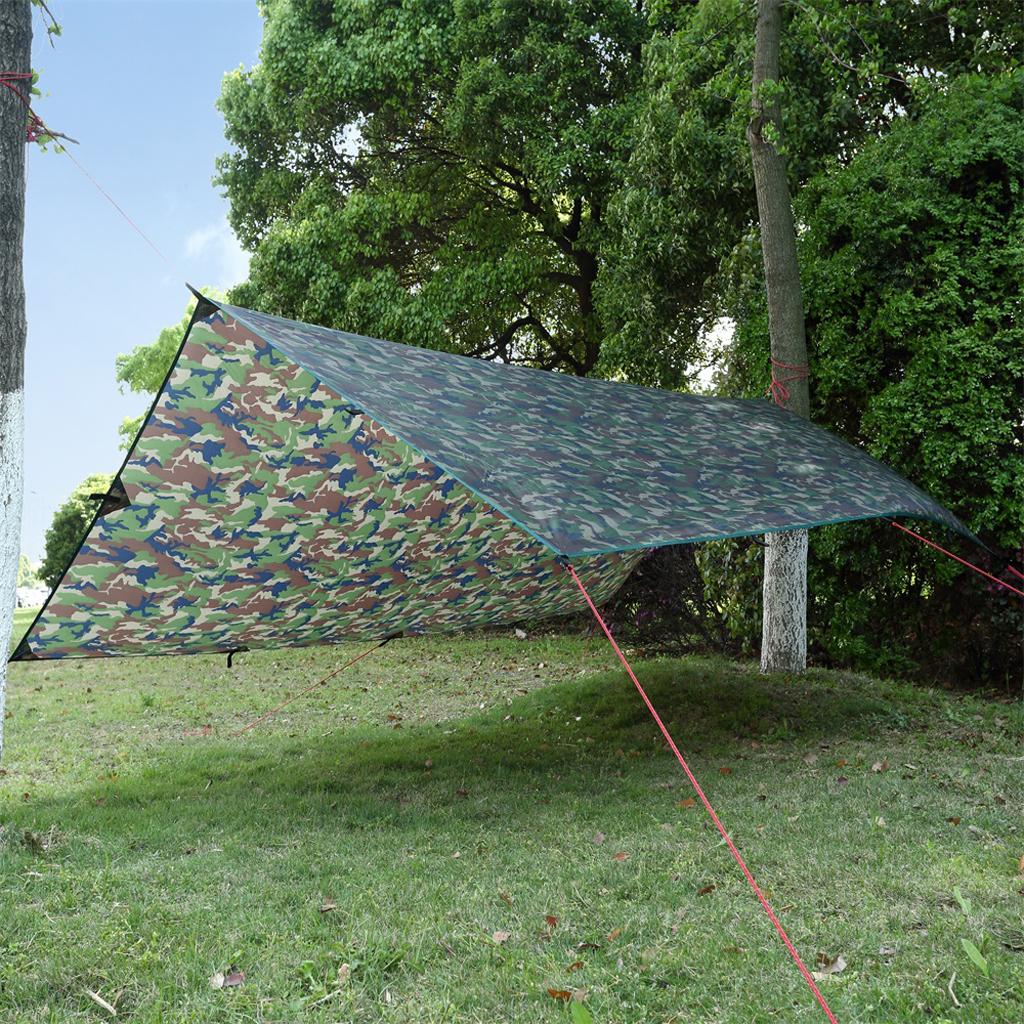 Camo Hammock Rain Fly Tent Tarp Canopy Outdoor Camping Beach Sun Shelter 3x4m