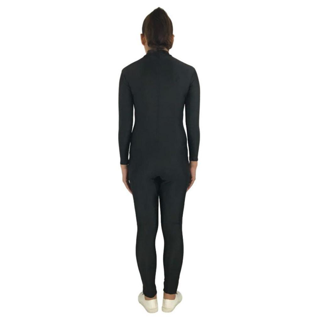 Women Spandex Bodysuit Stretch Jumpsuit Cat Costume Red Black S-3XL