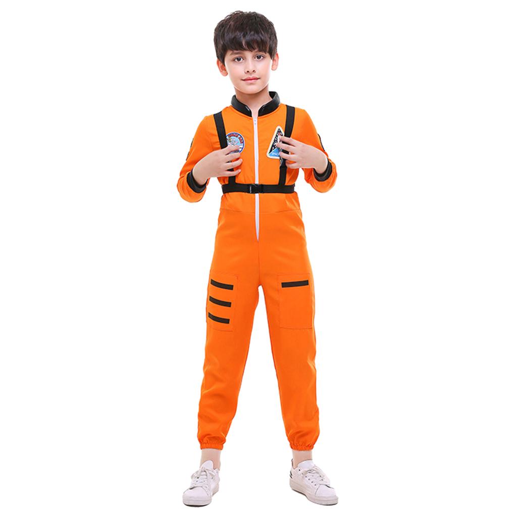 Kid/'s Astronaut Air Force Flight Suit Role Play Costume,Orange