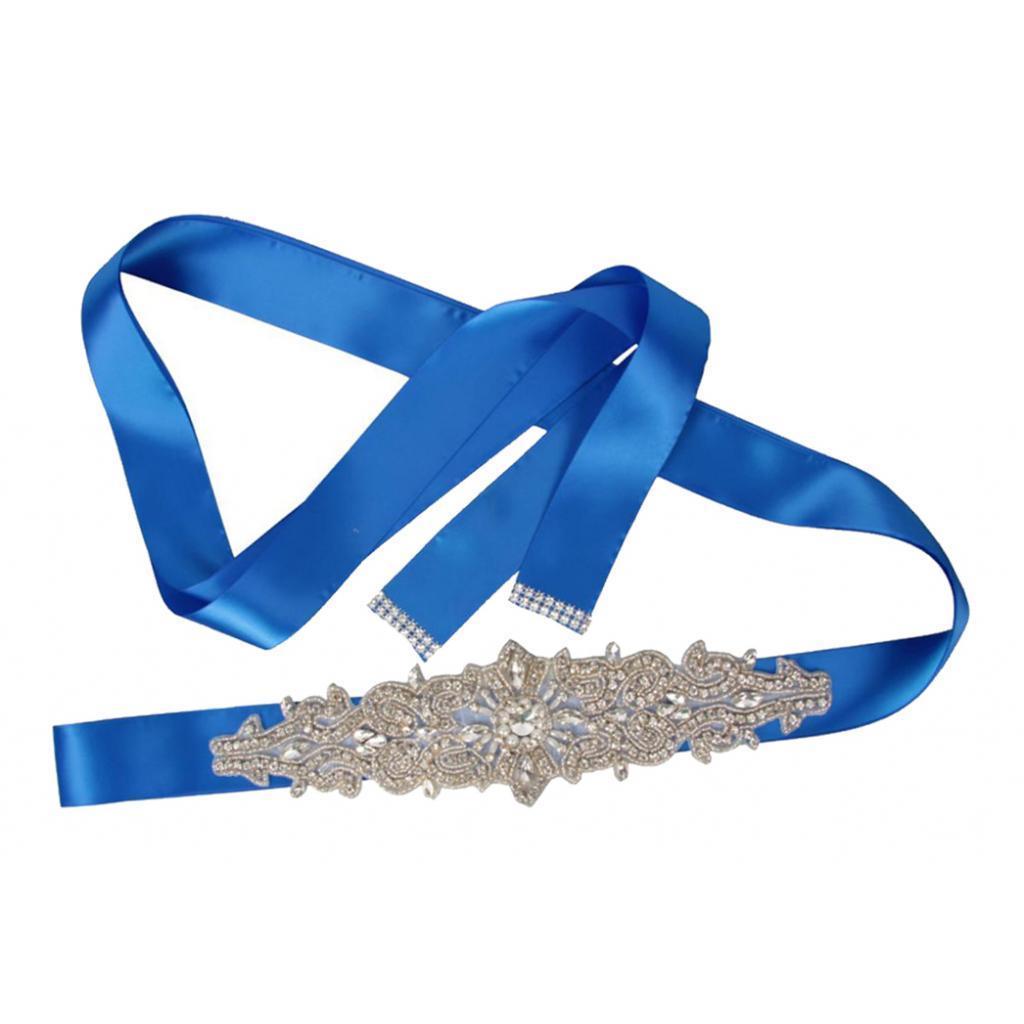 Bridal Sash//Bridal Belt// Wedding Dress Sash Belt Rhinestone Crystal Flowers