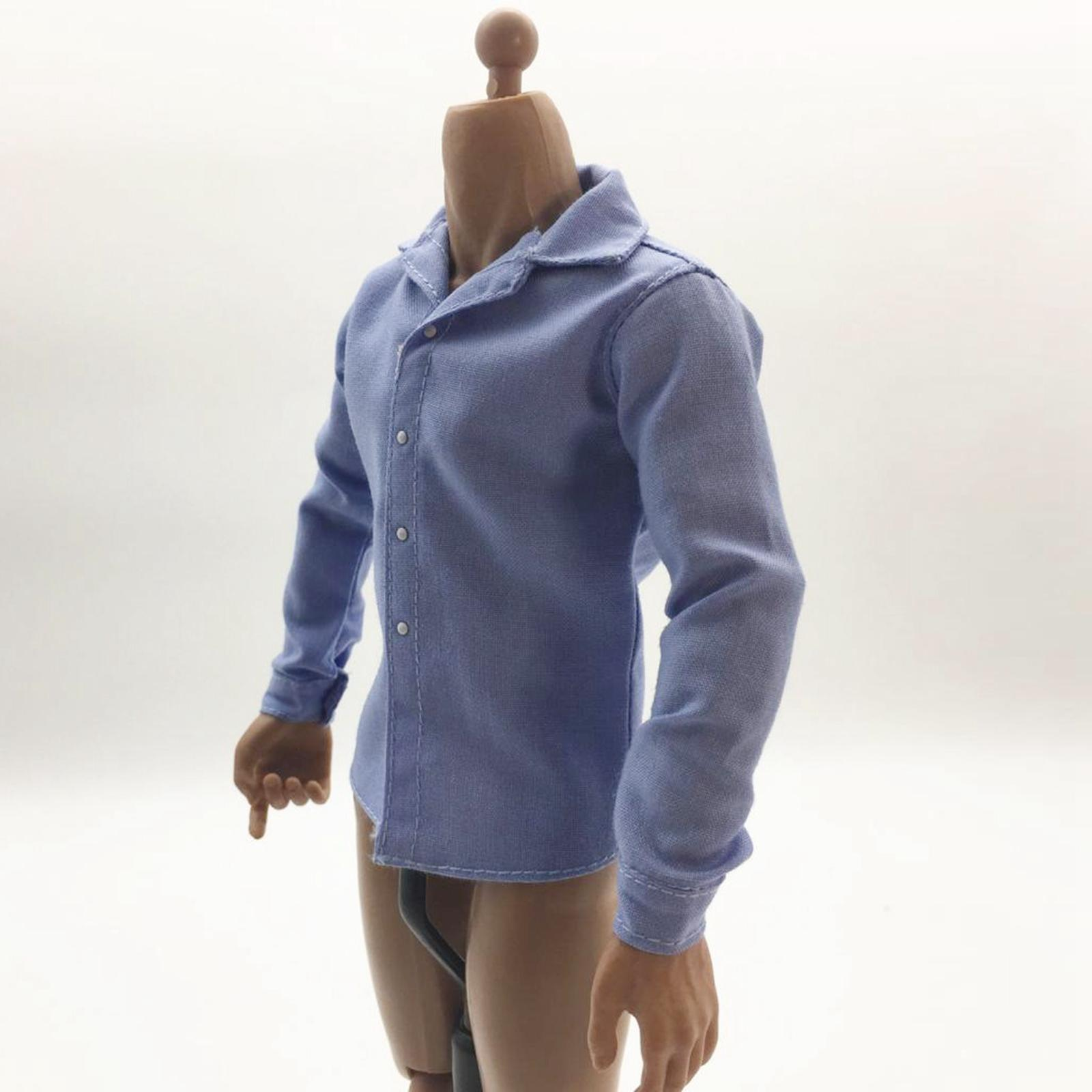 1//6 Men/'s Shirt Male Clothes Clothing for 12/'/' Figure Body Toy Accessories