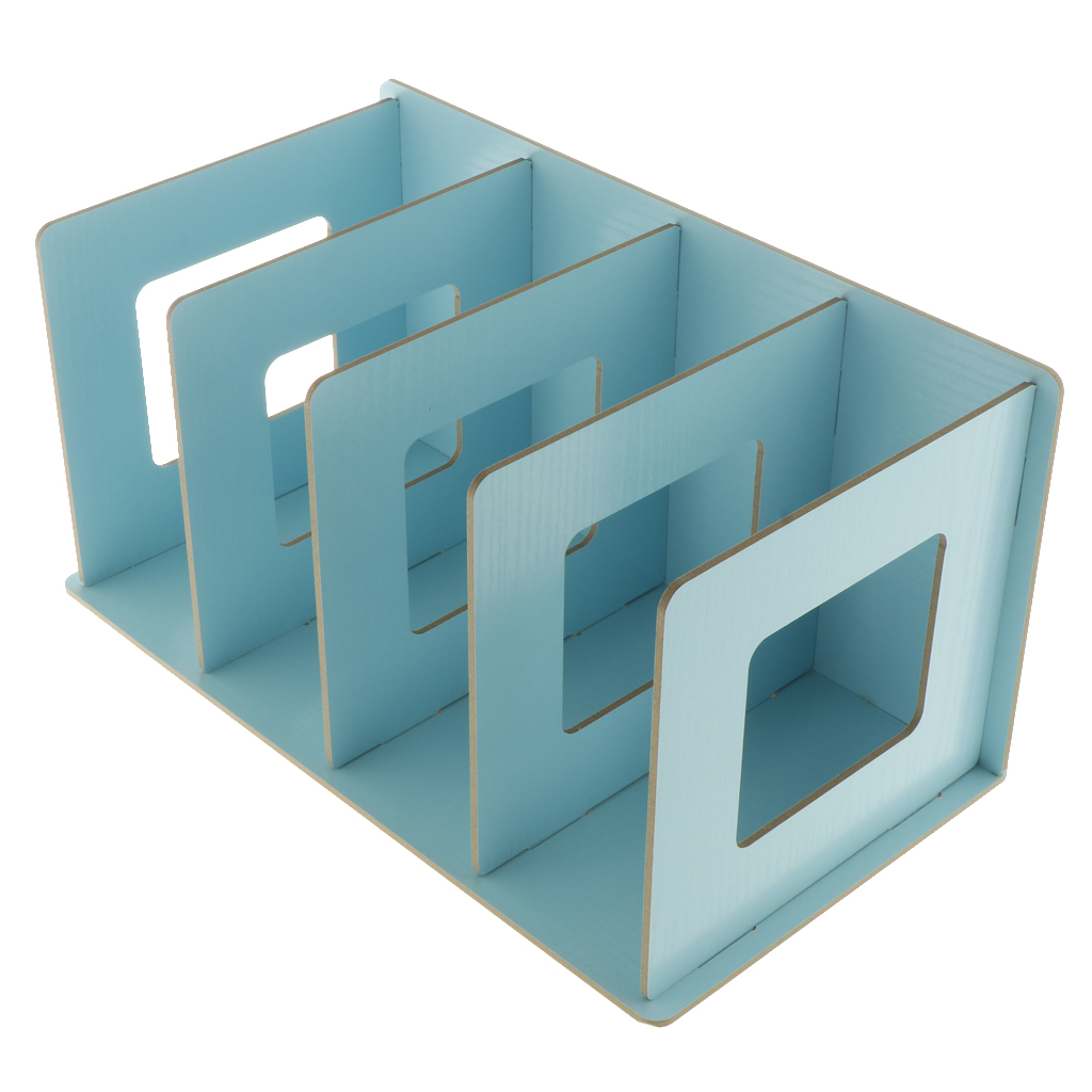 Blesiya Wooden Book Shelf Storage Rack Home Office Dorm Desktop Organizer