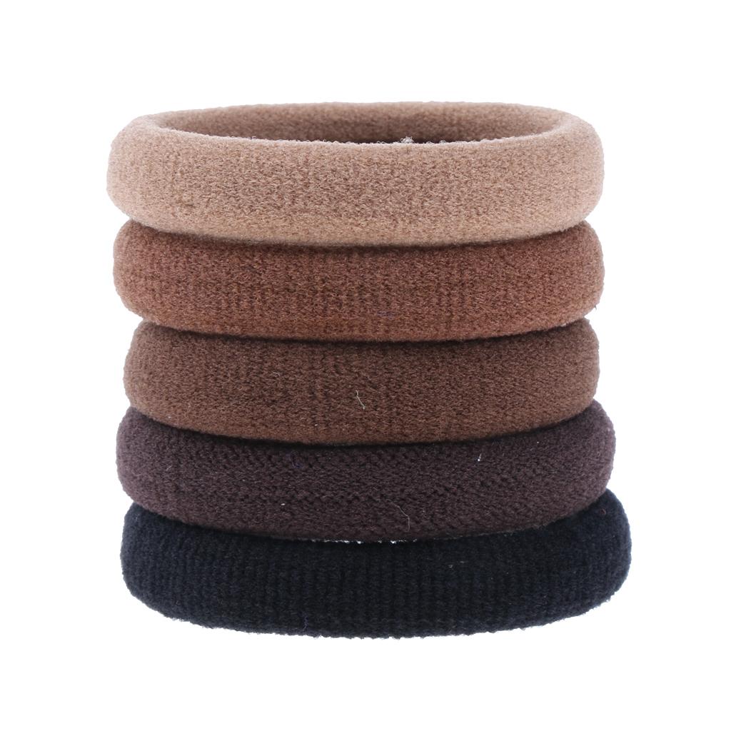 24Pcs Girls No-Damage Elastic Hairband Rope Tiny Ponytail Holder Mixed Color