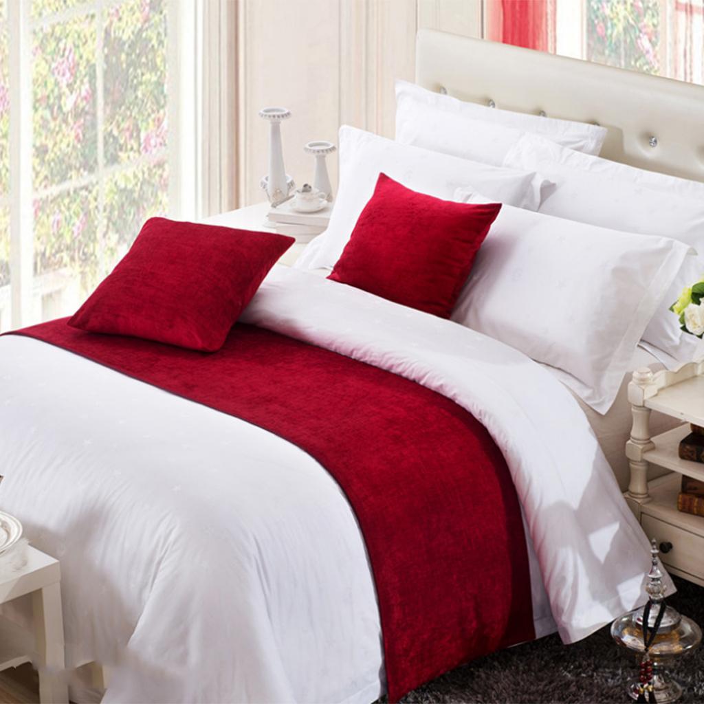 Chemin-de-Lit-Couvre-Lit-Decoratif-pour-hotel-Maison-Chambre miniature 20