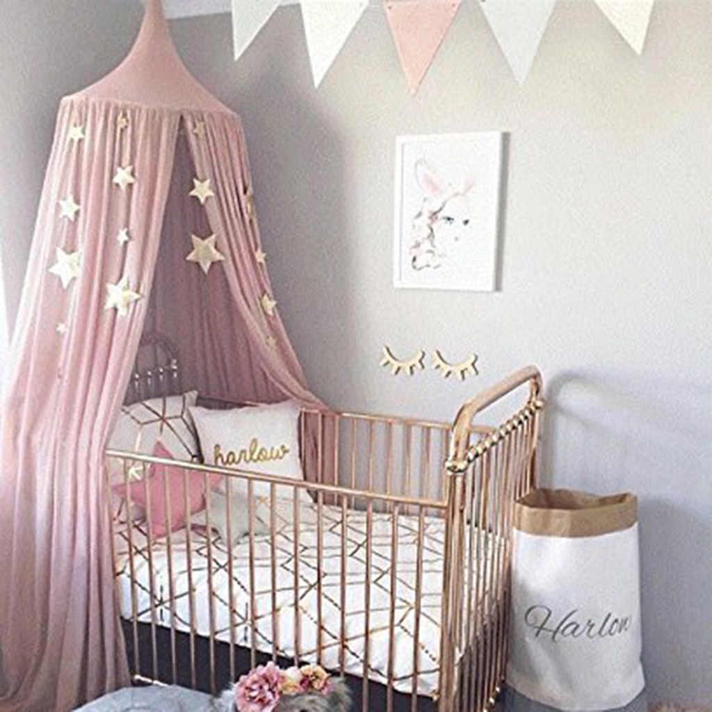 Round Dome Kids Indoor Outdoor Castle Bed Canopy Mosquito Net for Baby Crib