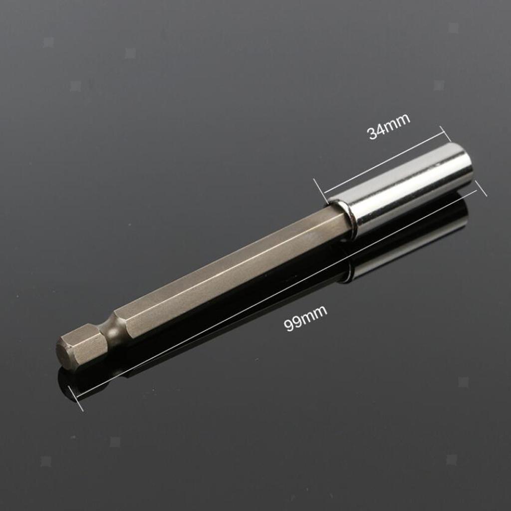 3tlg Magnetische Bithalter Bohrmaschine Verlängerung Halter 1//4