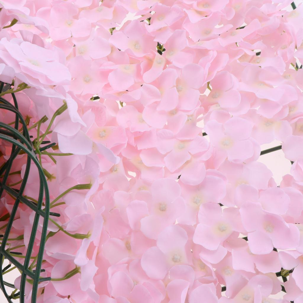 Upscale Artificial Flower Wall Panel Hydrangea Carpet for Wedding Home Decor