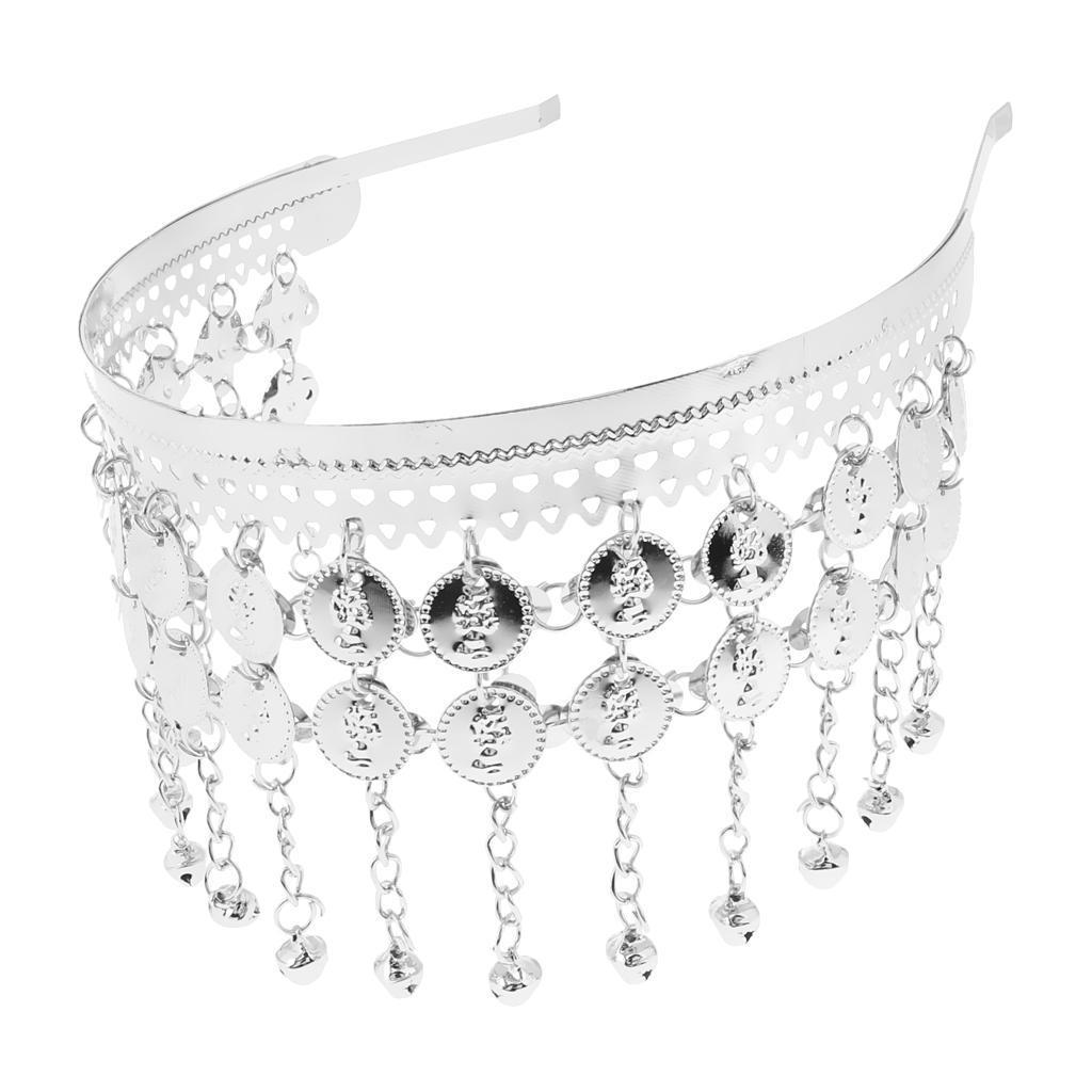 Fashion Belly Dance Tribal Coins Headband Jewelry Festival Costume Headdress