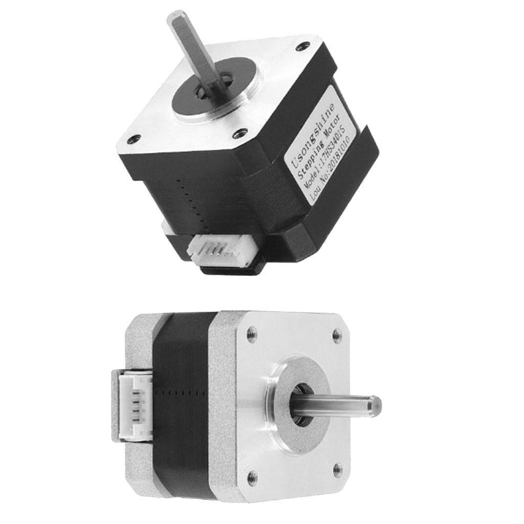 Alloy Nema 17 Bipolar Stepper Motor 0.6A for CNC Compatible with 3D Printer