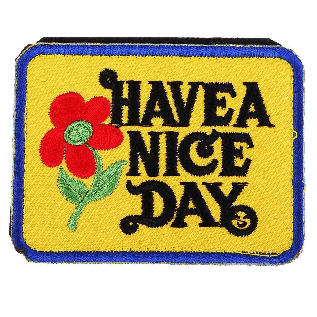 DIY Stickerei dekorative Patches annähen Eisen auf Applique Bag Craft