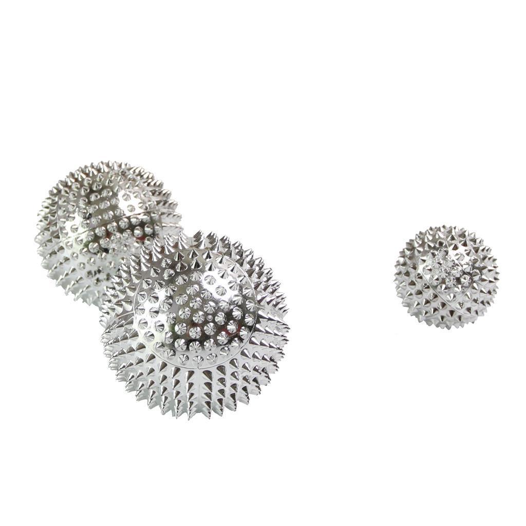 3 Stück Spiky Roller Handflächen zurück Akupressur Massage Ball Relief