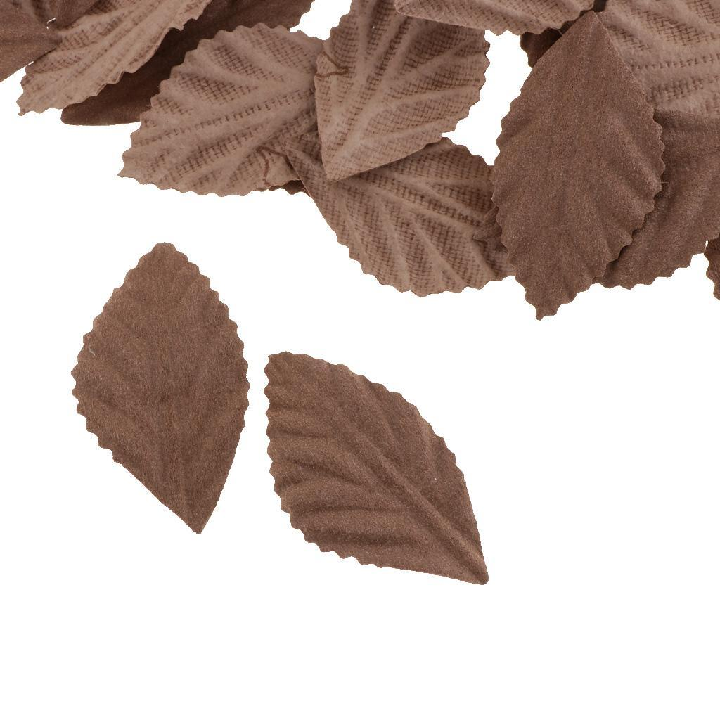 100x Künstliche Blätter Kunstblätter Hochzeit DIY Blumenkranz