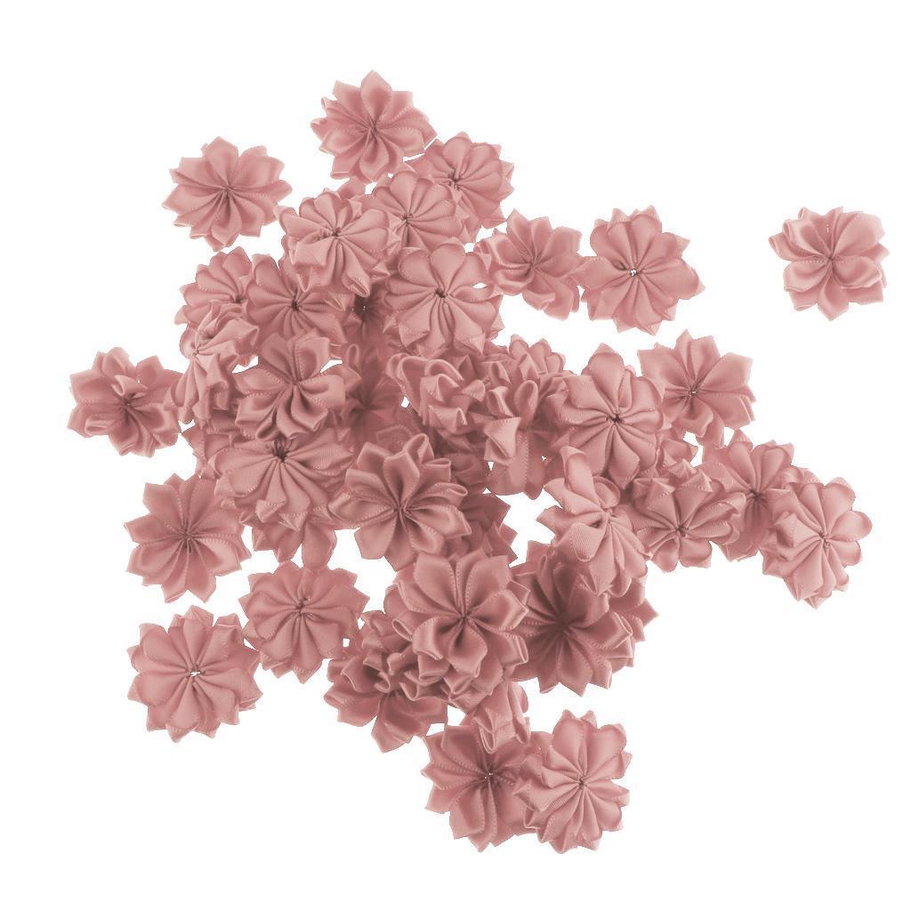50er Set Stoff Blumen Köpfe Kunstblumen Rosenköpfe Stoffrosen