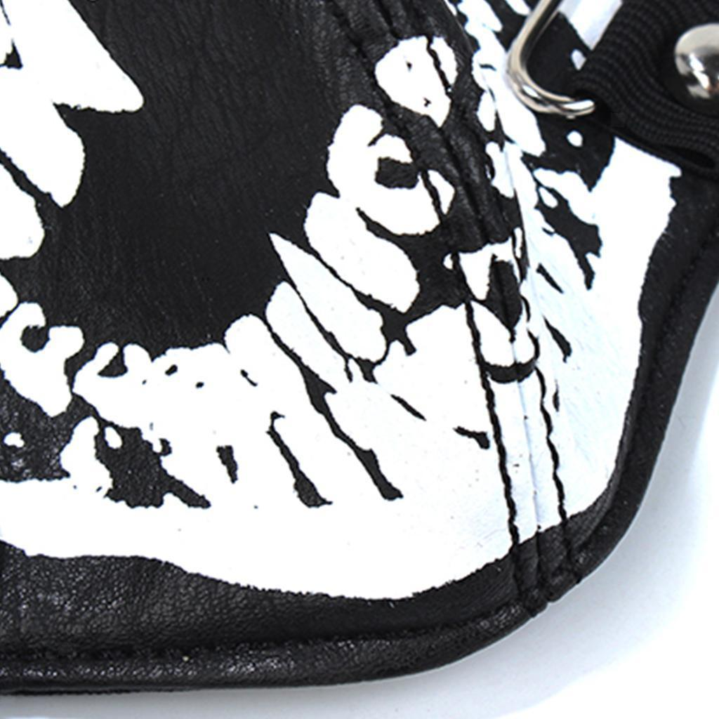Punk Skull Half Face Mask Leather Windproof Dust Mask Motorcycle Rider Biker
