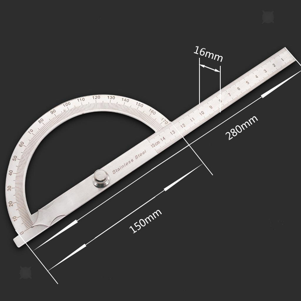 MagiDealGeneral Tools Square Head Metal Protractor 180 Degree 150mm/&145mm